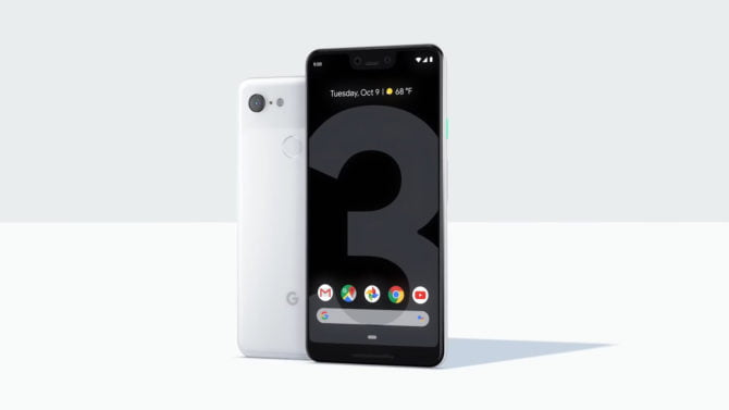 A promotion photo of Google Pixel 3