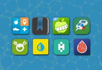 image contains best diabetes tracker apps icons by techengage