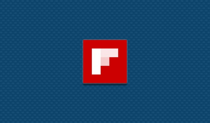 an image with Flipboard app logo