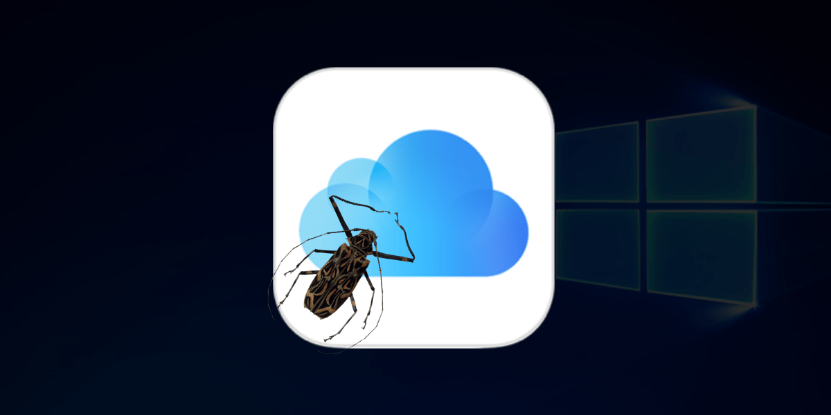 icloud bug to be fixed on windows 10