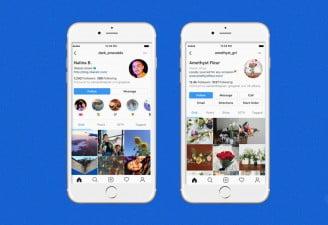 instagram profile redesign
