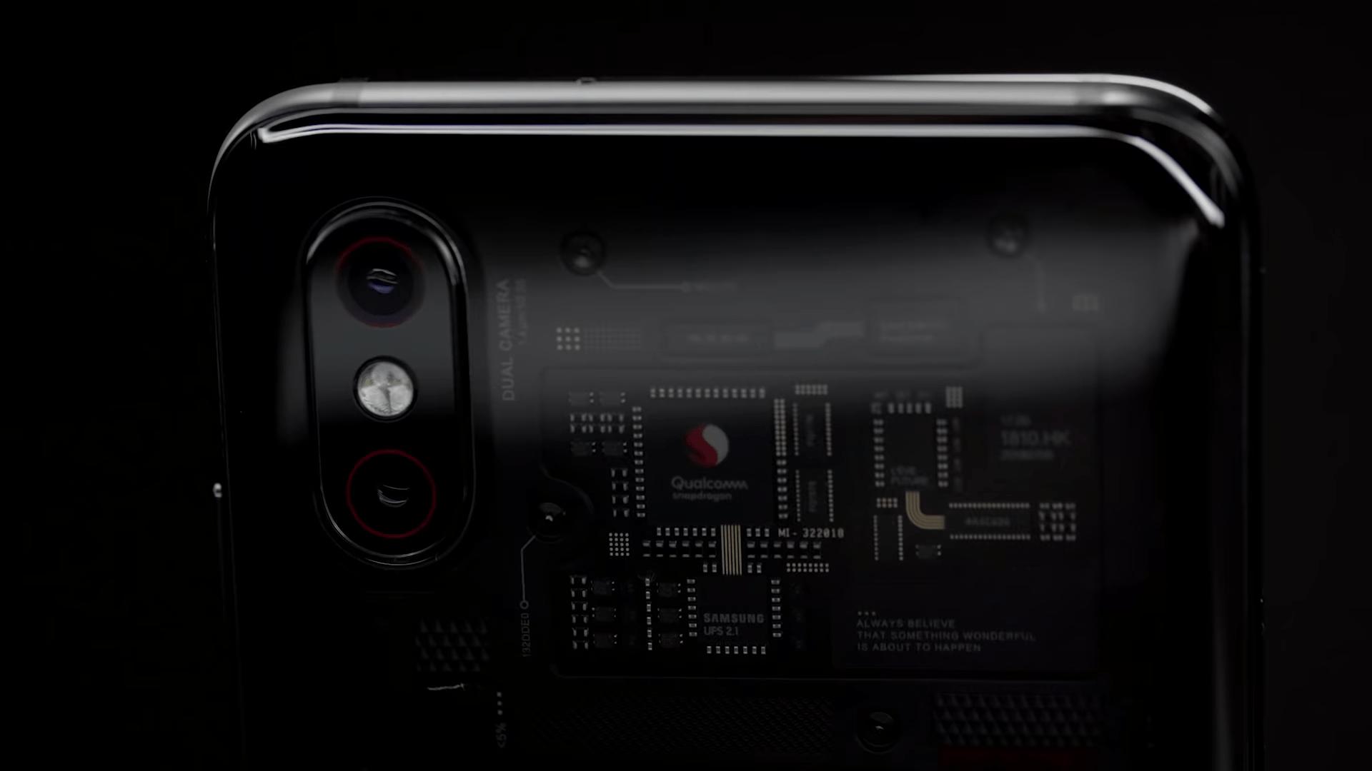 Mi 8 Pro backside transparent