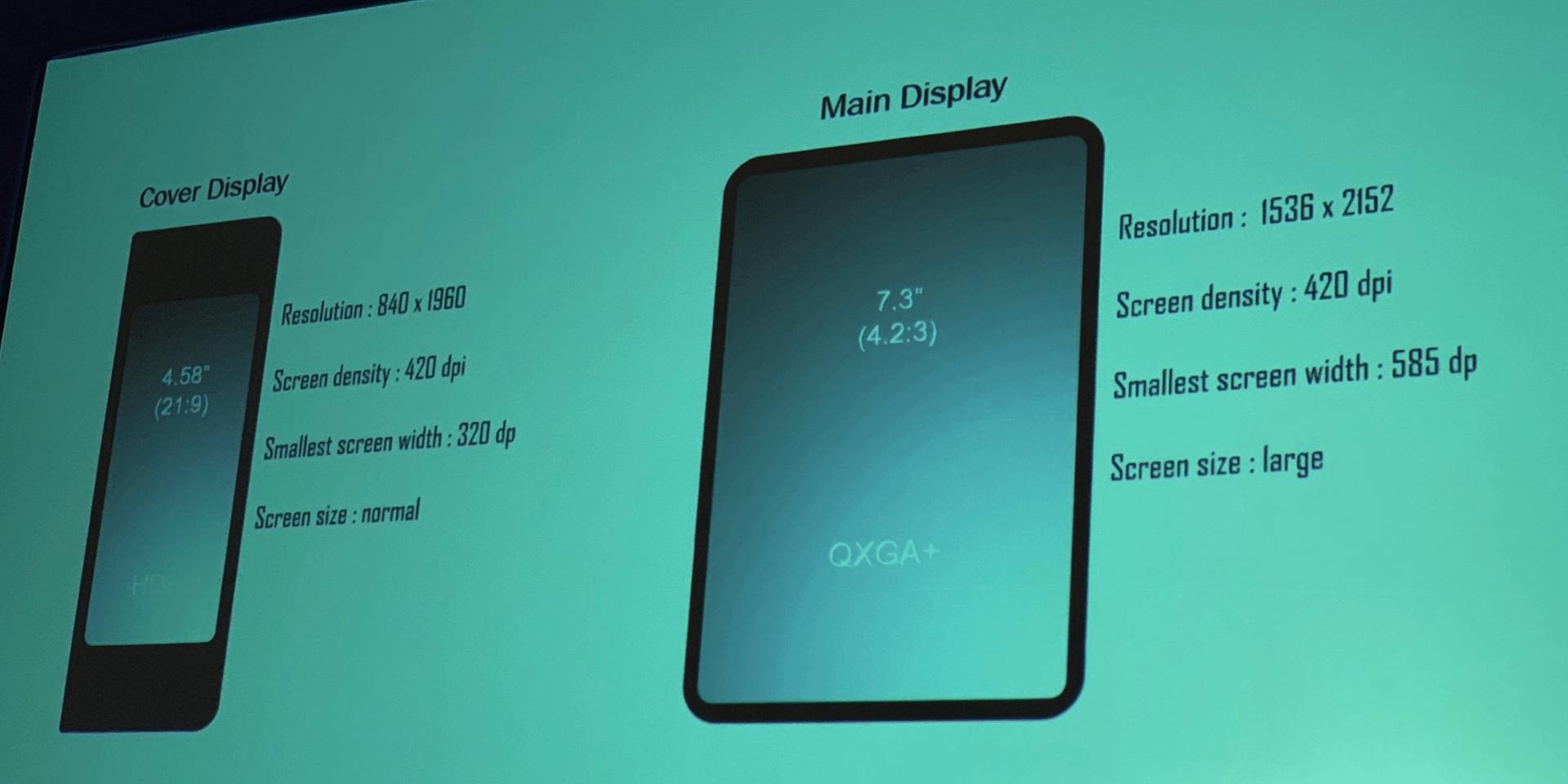 foldable phone specs