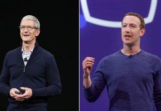 Tim Cook and Mark Zuckerberg