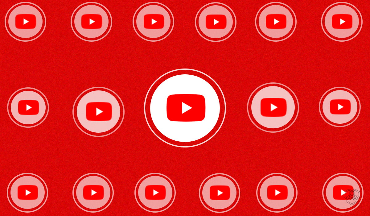Image with YouTube logo representing YouTube stories