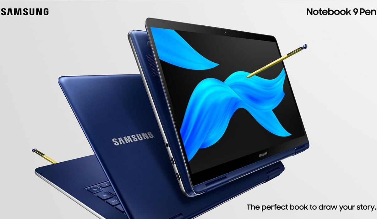 Notebook 9 Pen display