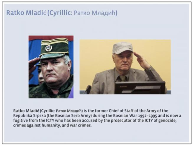 Ratko Mladic general info