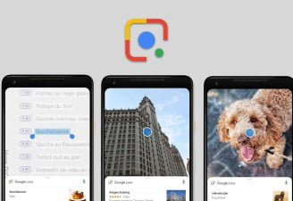 Screenshots of Google Lens App