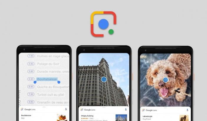 Screenshots of Google Lens App