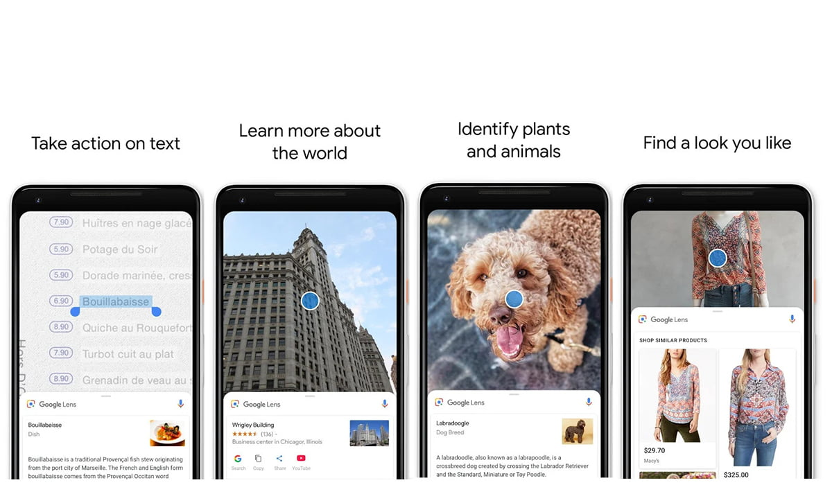 google lens feature screenshots