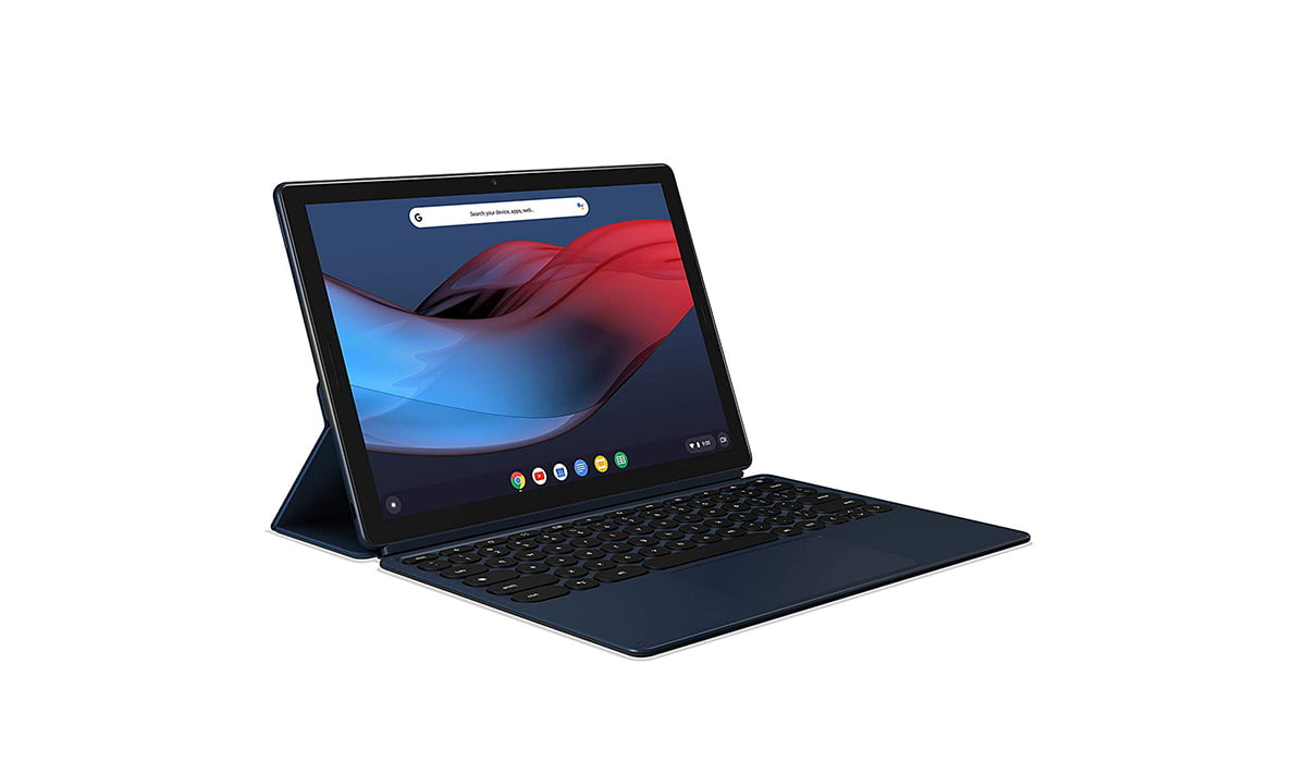 An image contains Google Pixel Slate with Keyboard