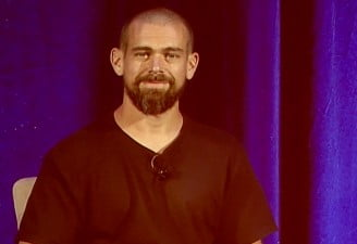 A portrait of Jack Dorsey, CEO of twitter