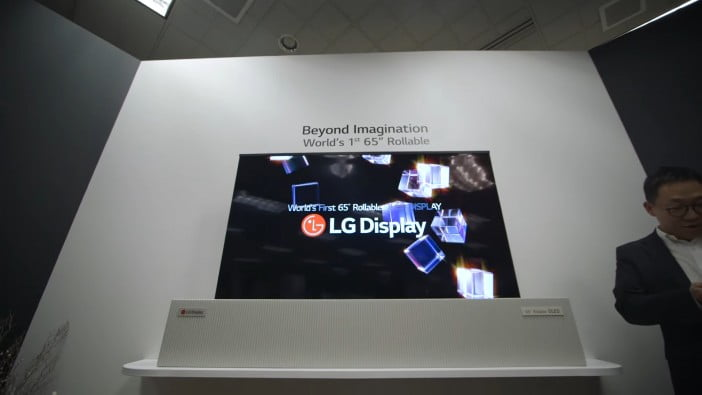 LG rollable TV, CES 2018