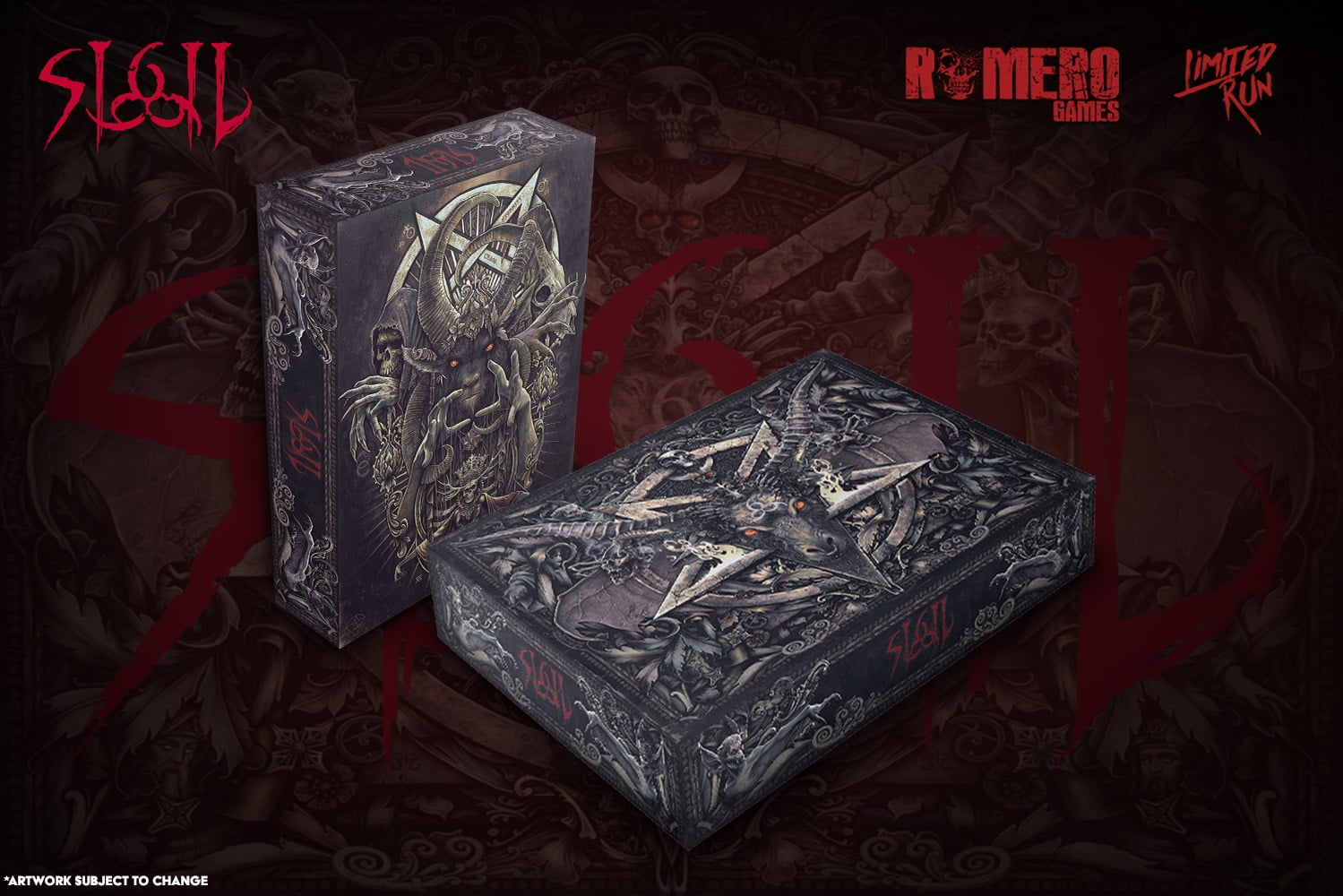 An image contains Sigil box by Romero games