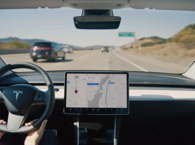 Tesla autopilot navigation