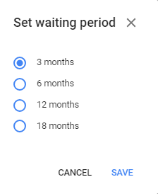 Google account waiting period before inactivation
