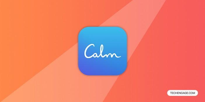 A logo of Calm app