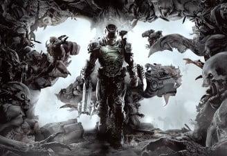 A screenshot from Doom game
