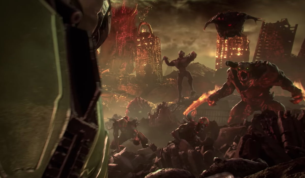 A screenshot from Doom Game