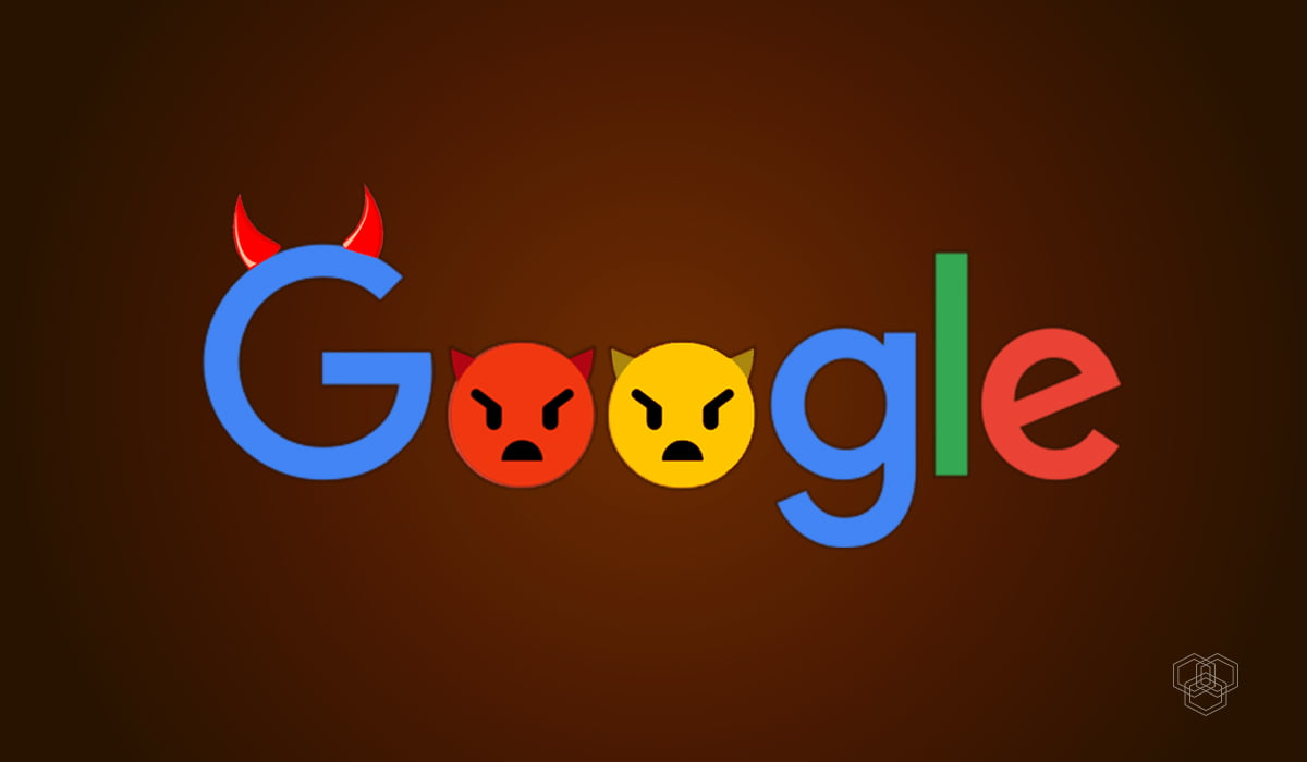 An image contains evil Google logo