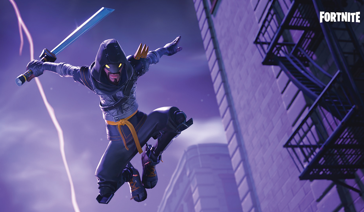 ninja in fortnite game screenshot