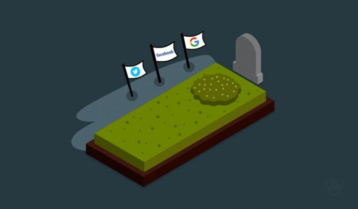 an illustration showing social networks after demise of a person