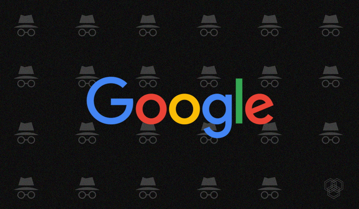 Image contains Google's logo with Incognito mode icon