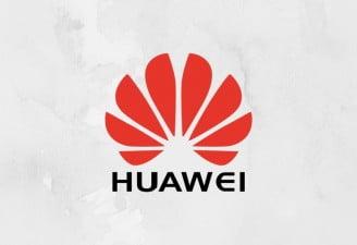 a design with huawei logo