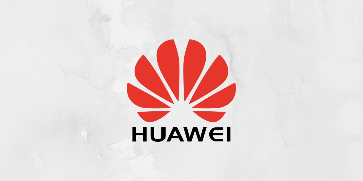 a design with huawei logo