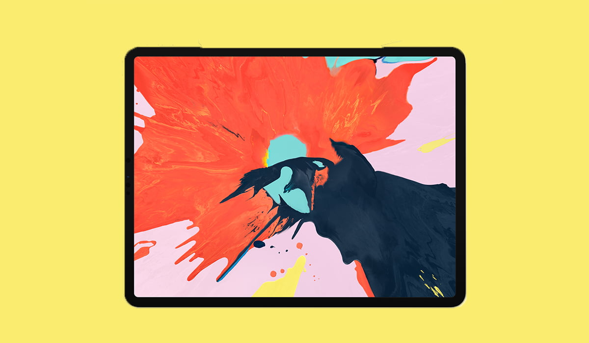 iPad Pro 2018 Yellow background