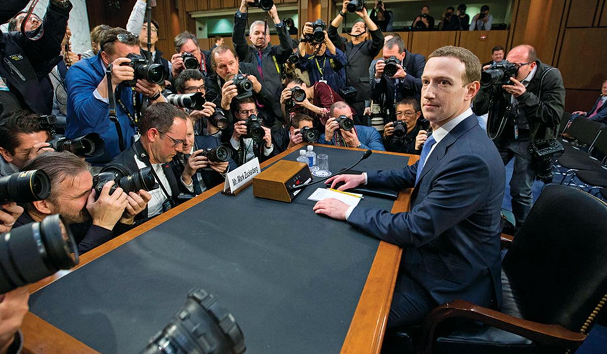 Mark Zuckerberg looking right