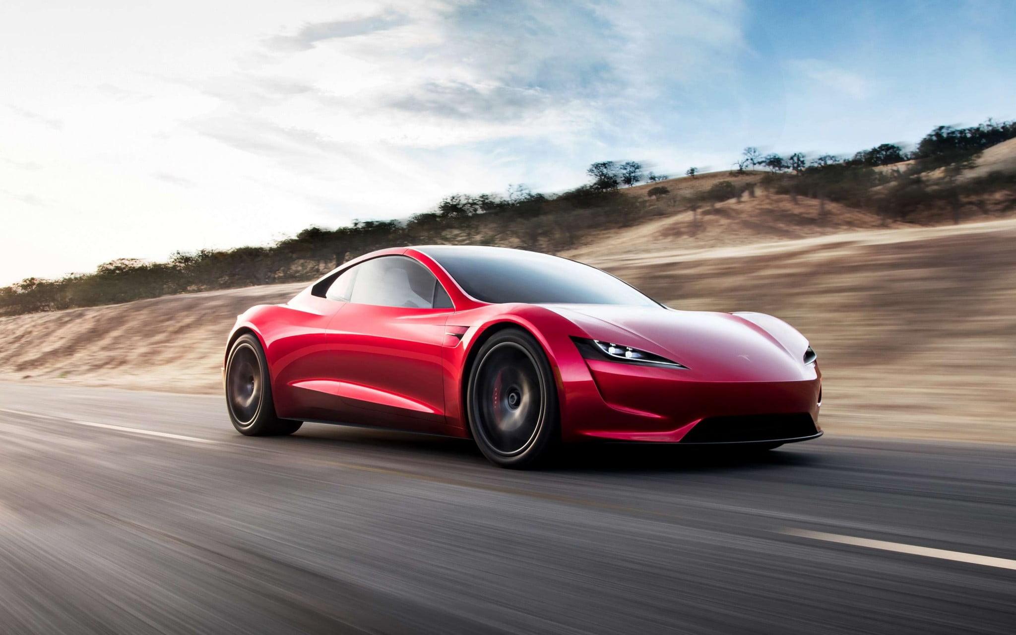 Tesla Roadster Red