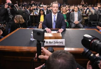 Mark Zuckerberg in Congress hearing, facebook grants data access