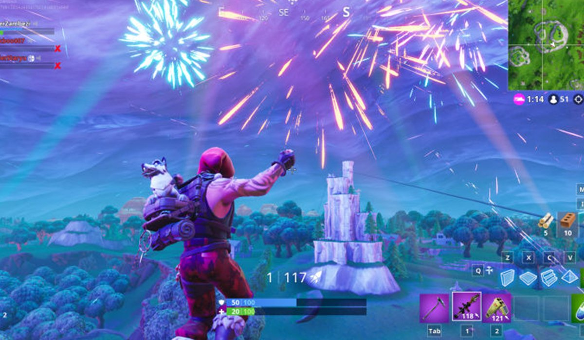Fortnite game Fireworks screenshot