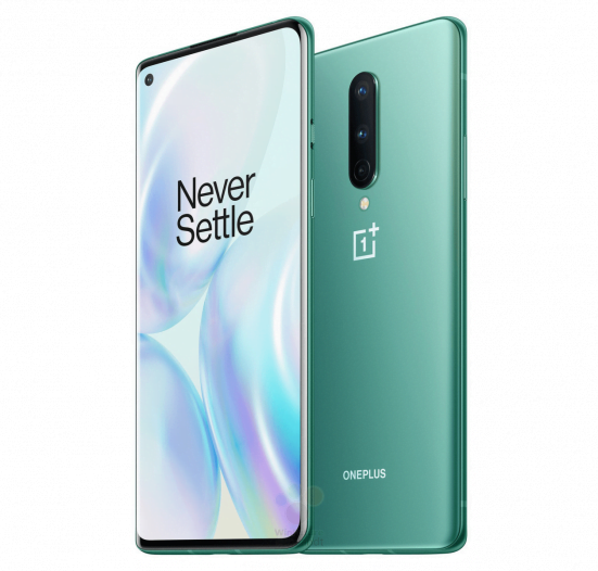 OnePlus 8 in Glacial Green color