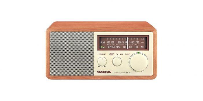 Sangean-WR-11-Wood-Cabinet-AMFM-Table-Top-Analog-Radio on Amazon