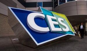 CES 2019 logo outside CES building