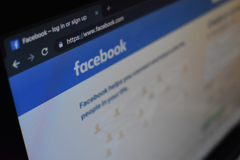 A computer screen with Facebook website open