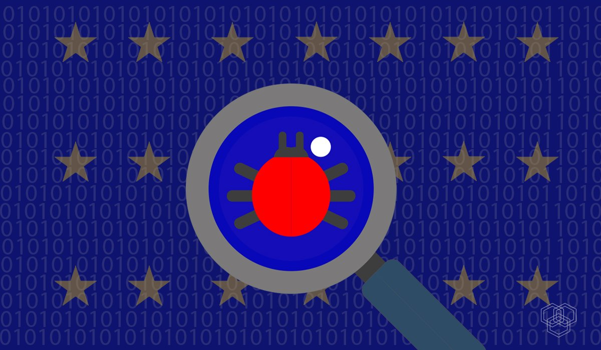illustration contains european union flag and other elements