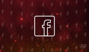 Facebook logo illustration with burn effect