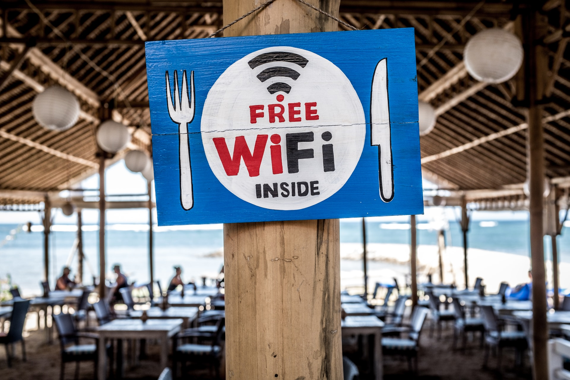 Free WiFi in a restaurant