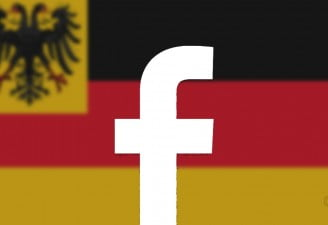 design of facebook post with german flag