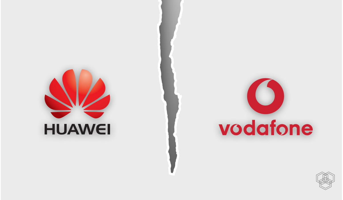 vodafone stops using huawei products