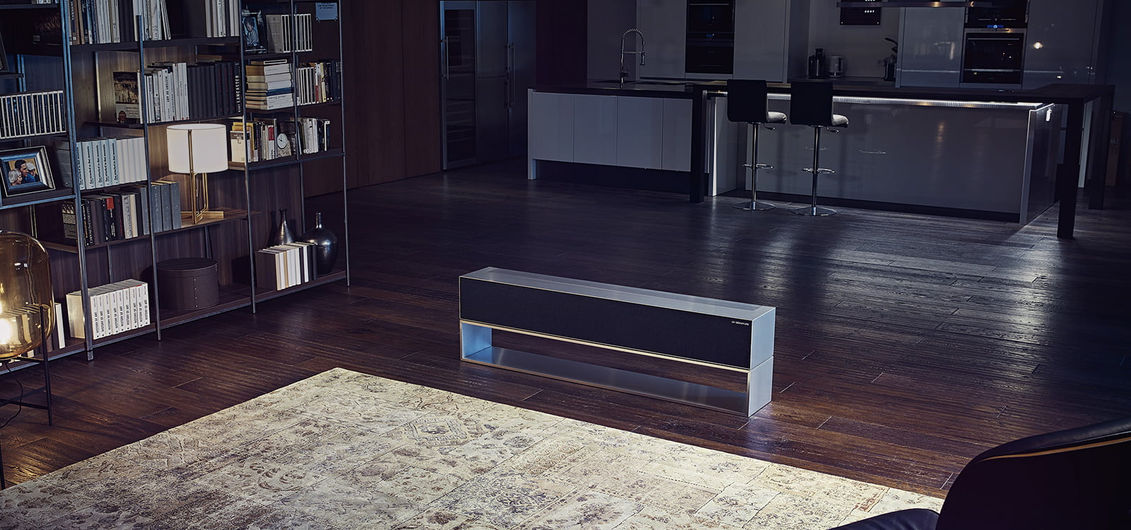LG rollable TV base
