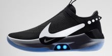 Nike launches self-lacing basketball shoes