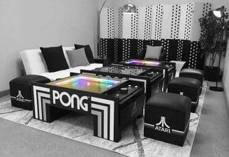 pong coffee table atari