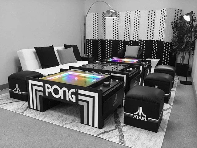 pong coffee table atari