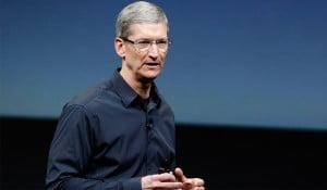 Tim Cook in a Apple Keynote