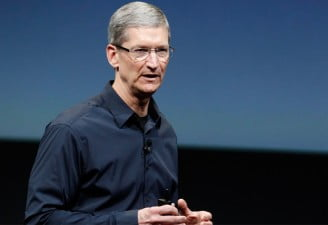 Tim Cook in a Apple Keynote