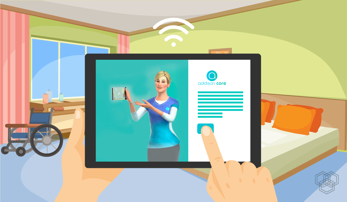 illustration of virtual care take part